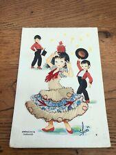 vintage embroidered postcard - andalucia ( infantil )