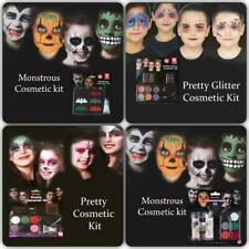 KIDS HALLOWEEN FACE PAINT MAKEUP KIT VAMPIRE SKELETON WITCHES ZOMBIE MAKEUP SET
