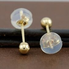 Genuine 18CT Yellow Gold Ball Studs Earrings 3mm - 1 Pair