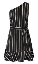 City Chic XS 14 Tunic Stripe White Black