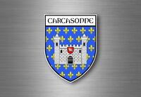 Autocollant sticker voiture moto blason ville departement adhesif carcassonne