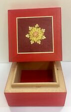 Sorrento inlaid wood.Intarsio-3,3/4X3,3/4 Inch Jewelry Box-Made by hand in Italy