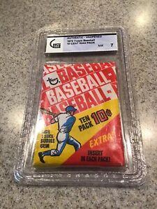1970 Topps Baseball Wax Pack GAI 7 NM, NOT PSA