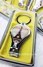 12 Wedding Favors Eiffel Tower Quinceanera Keychains Torre Eifel Recuerdo llaver