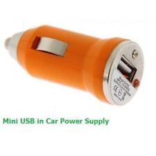 USB Car Charger Adaptor Plug 12V Orange