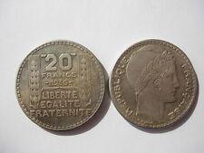 COPIE 1936 de la monnaie TURIN 20 francs argent 1936 REPLIQUE