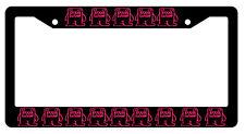 Black License Frame DOMO KUN Hot Pink JDM