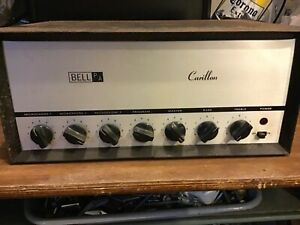 Bell Carillon tube PA guitar amp project 35 watts transformers test ok Daka knob