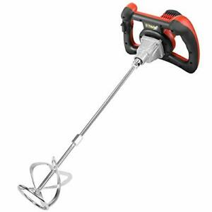 XtremepowerUS 1600W Handheld Electric Cement Mixer for Mortars Concretes Grouts