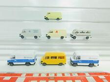 BO595-0,5# 7x Wiking H0/1:87 Transporter Mercedes: Wohnmobil+Apotheke etc, NEUW
