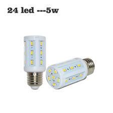 E27 Base Socket Screw LED Corn Light Lamp Bulb Outdoor Camp Home Solar DC12V