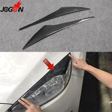 2pcs For Ford Focus 2015 2016 Real carbon fiber Headlight Eyebrows Eyelids Trim
