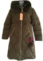 XING XING Women's Green Hooded Padded Puffer Jacket. Size Small.