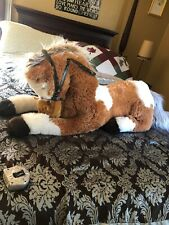 Fiesta EXTRA LARGE JUMBO Plush Paint Horse 36in Stuffed Toy Plush Brown / White