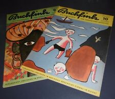 2 hefte buchfink illustrierte f. jungen und mädchen heft 9+10 alt top deko 1955
