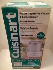 Cuisinart Frozen Yogurt-Ice Cream & Sorbet Maker - 2 Freezer Bowls included