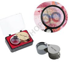 30X Glass Magnifying Magnifier Jeweler Eye Jewelry Loupe Loop LY