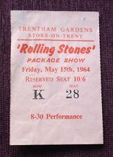 ROLLING STONES TICKET STUB.  1964. **SUPERB**