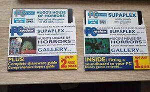 PC REVIEW PC IBM DISK A & B 1992 -  FLOPPY DISCS 5.25 1/4  - 2 DISCS