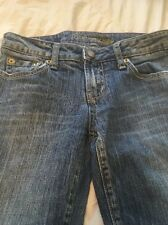 American Eagle womans juniors Size 0 Short Bootcut Jeans Medium Denim Distressed
