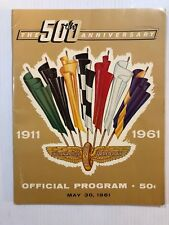 1961 Indy 500 Program