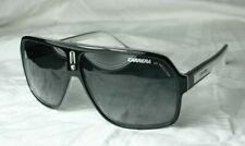 Carrera 27 XSZ 9o Black White Frame Grey Lens Mens Racing Aviator Sunglasses