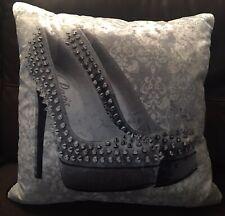 Large Velvet/Diamonte Cushion