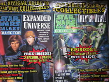 STAR WARS COLLECTOR Magazine #3 + #4 (Both SEALED with Episode 1 Promo Cards)