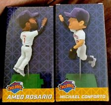 AMED ROSARIO MICHAEL CONFORTO HIGH FIVE DOUBLE BOBBLEHEAD BROOKLYN CYCLONES METS