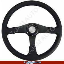 SAAS Quality Octane Sports Steering Wheel Fully Black 380mm 4WD 4x4 New