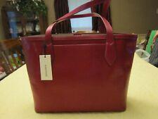 NWT $345 Brahmin Athena Priscilla Topsail Leather Tote Fuschia