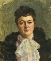 Fritz BURGER 1867 - 1927 - Portrait von Marie Burger - Seiler
