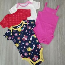 New Vitamins Baby & Orchestra France Baby Girl 9 months Set of 4 bodysuits Nwot