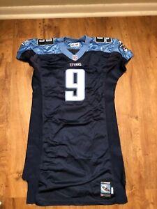 Tennessee Titans Steve McNair Jersey size 46 Reebok Navy Blue Baby Blue Carolina