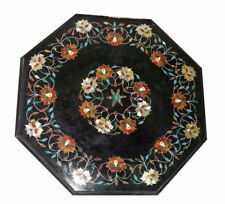 "24"" marble coffee Table Top Inlay art stones Pietra dura​ Work decor"