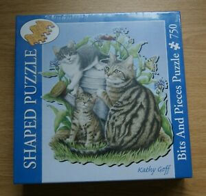 New Cats + Kittens 750 piece shaped jigsaw puzzle factory sealed Bits and Pieces
