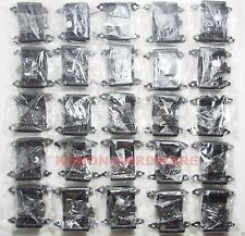 "Lot of 40 Pairs (80pcs) Self Closing Flush 3/8"" Inset Cabinet  Hinges - Black"
