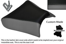 GREY & BLACK CUSTOM FITS LAVERDA 650 668 FLAT FRONT LEATHER SEAT COVER