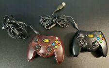 Mad Catz Original Microsoft Xbox Wired Controller Lot  Red & Black Pair Set