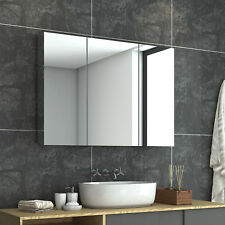 1000x720mm Bathroom Vanity Mirror Cabinet Wall Hung Shaving Storage Cupboard