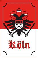 Köln Cologne Wappen Blechschild Schild Blech gewölbt Tin Sign 20 x 30 cm CC0203