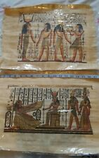2 Vintage Egyptian Papyrus pictures