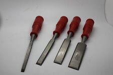 4 tlg. HOLZ STECHBEITEL BEITEL SET 6-12-18- 24 mm SATZ HOLZBEITEL SCHNITZBEITEL