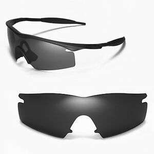 New Walleva Black Replacement Lenses For Oakley M Frame Strike