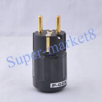 Audio AMP EUR Schuko Power Plug Male Plug Polish Brass Black