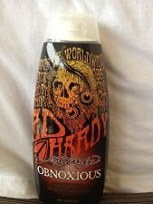 Ed Hardy Obnoxious Xxxtreme Bronzing Tingle Dark Indoor Tanning bed Lotion New