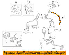 Scion TOYOTA OEM 05-10 tC Pump Hoses-Steering-Reservoir Hose 4434820640