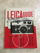 LOT OF: 13 Leica PHOTOGRAPHY MANUALS/GUIDES, EARLY 1900's- MID 1900's, EXCELLENT