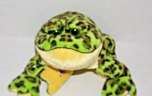 Ganz Webkinz Green Spotted Bullfrog Plush Stuffed Animal - No Code