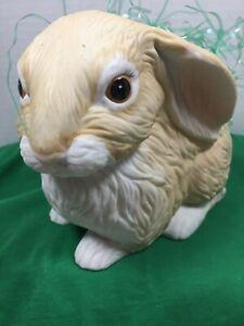 Vintage Bunny Rabbit Fine Porcelain Planter Made In Mexico 64042